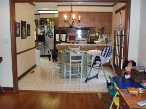 1970's breakfast room and kitchen. Ya'll remember this?