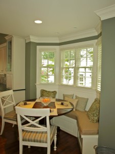 Breakfast bay with built-in banquette.