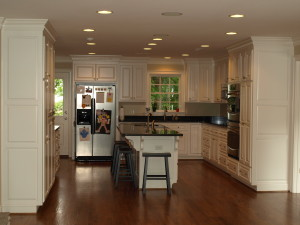 Stunning, new, white kitchen.