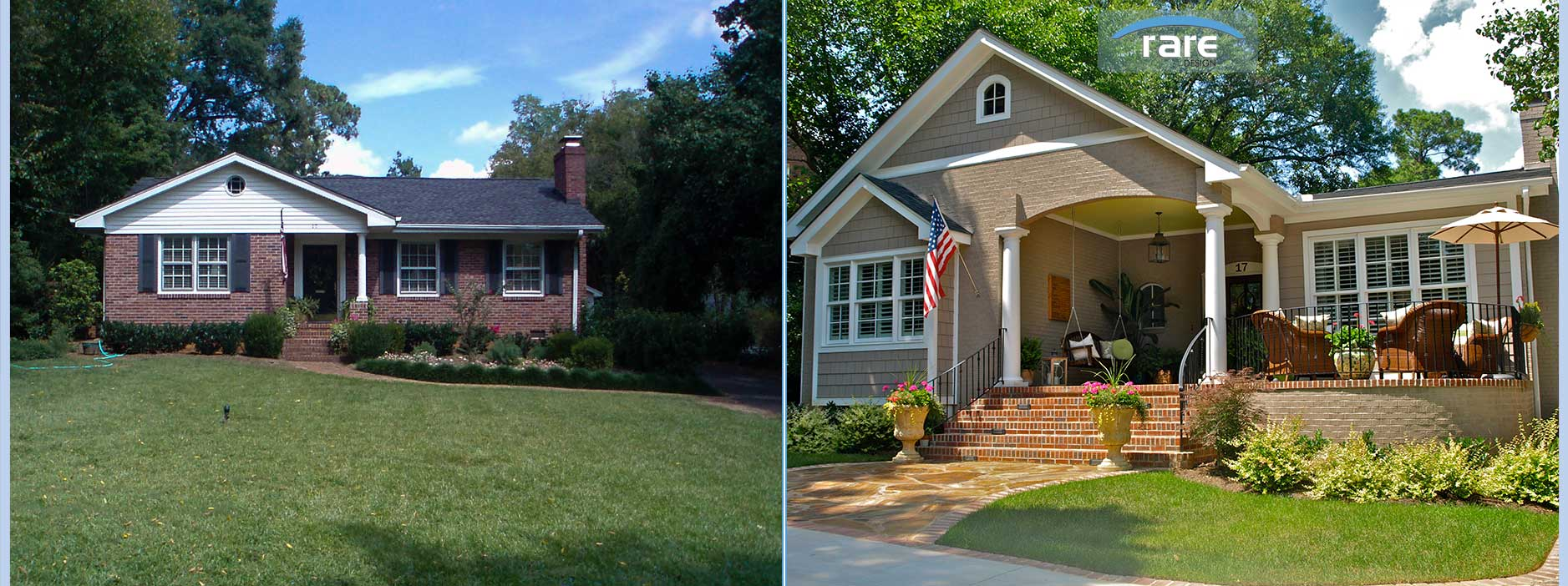 Greenville home remodeling raredesign inc for Redesigning the front of your house