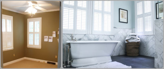 A guest bed and bathroom were flipped around to make room for an inviting master suite.
