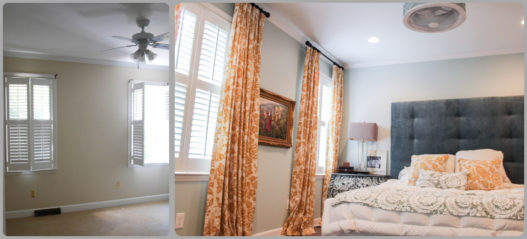 It's amazing what a little bit of color and patterns can do for a master bedroom.