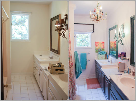 Pretty kid's bathroom makeover.